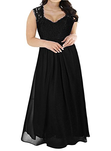 1db839dec8a Nemidor women s deep- v neck sleeveless vintage Plus Size Bridesmaid Formal  Maxi Dress The drop down size is US Plus SIZE. See though back Designing
