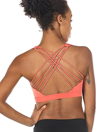 Queenie Ke Womens Yoga Sport Bra Light Support Strappy: YIANNA White Sports Bras For Women Seamless Medium Support
