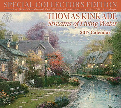 thomas kinkade painter of light 2018 deluxe wall calendar